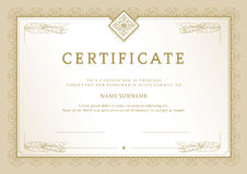 Certificate_1 Royalty Free Stock Photo