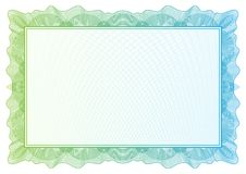 Certificate. Vector pattern currency and diplomas Stock Images