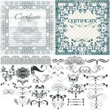 Certificate vector set in vintage style Royalty Free Stock Photography