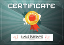Certificate Vector Template Stock Photo