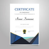 Certificate - vertical elegant vector document Royalty Free Stock Photos