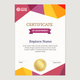 Certificate Vertical Template. Vector Stock Images
