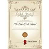 Certificate vintage template Royalty Free Stock Photography