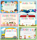 Certificates with education theme background Royalty Free Stock Photos