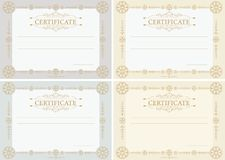 Certificates horizontal Royalty Free Stock Images