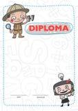 Certificates kindergarten Stock Images