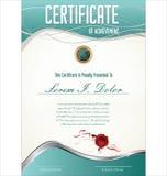 Certificatet template. Certificatet or diploma blue template Stock Image