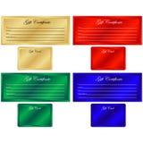 Certificati di regalo/schede Fotografia Stock