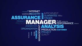 Certificatie de verzekerings verklaarde de beste van het van de bedrijfs manageranalyse zakenmancertificaat controlebedrijf geani royalty-vrije illustratie
