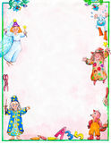 Certification for children. Diploma for children with magicians, fairies and squirrels Stock Image
