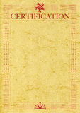 Certification elephant skin classic ps Stock Photos