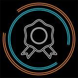 Certification seal icon - vector award badge stock illustration