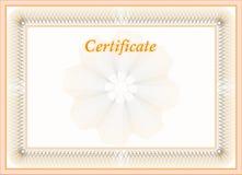 Certificato Immagini Stock Libere da Diritti