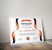 certificato Immagini Stock