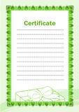 Certificato in bianco Fotografie Stock