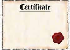 Certificato in bianco illustrazione di stock