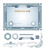 Certificato con gli elementi di progettazione Fotografia Stock