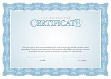 Certificato d'annata Diplomi del modello, valuta Immagine Stock