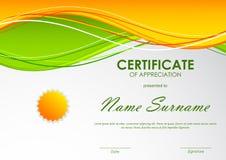 Certificato del modello di apprezzamento royalty illustrazione gratis