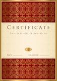 Certificato del modello di completamento Immagine Stock