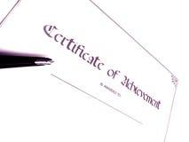 Certificato del successo fotografia stock libera da diritti