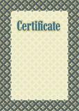 Certificato della struttura del fondo Immagini Stock