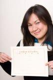Certificato di merito - serie di affari Fotografia Stock