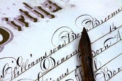 Certificato di nascita Immagine Stock Libera da Diritti