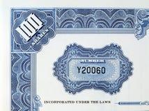 Certificato di parti con il numero di serie Fotografie Stock Libere da Diritti