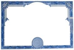 Certificato di riserva vuoto fotografie stock