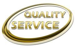 Certificato di servizio di qualità Fotografia Stock