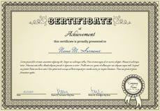Certificato di successo Immagini Stock Libere da Diritti