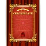 Certificato di vettore sul fondo del tessuto Fotografia Stock Libera da Diritti