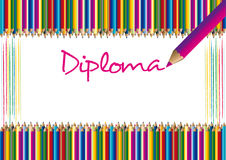 Certificato/diploma Fotografia Stock