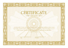 certificato Diplomi del modello, valuta Fotografia Stock Libera da Diritti