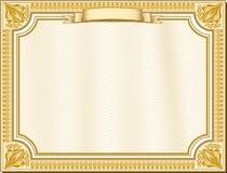 Certificato dorato Immagini Stock