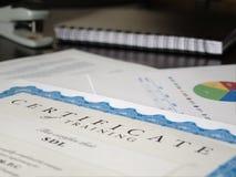 Certificato ed altri documenti Fotografie Stock Libere da Diritti