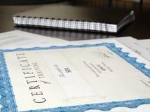 Certificato ed altri documenti Immagini Stock