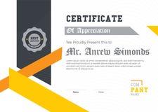 Certificato elegante del modello di apprezzamento Progettazione geometrica d'avanguardia Vettore stratificato eps10 - L'archivio  illustrazione vettoriale