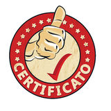 Certificato - Italian language for Certified Royalty Free Stock Image