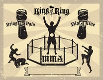 Certificato Mixed di arti marziali di MMA illustrazione di stock