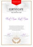 Certificato moderno Fotografie Stock