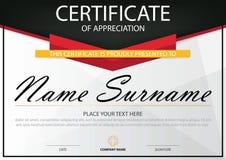 Certificato orizzontale di eleganza con l'illustrazione di vettore, modello bianco del certificato della struttura con il modello royalty illustrazione gratis