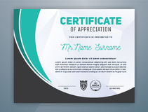 Certificato professionale moderno multiuso illustrazione vettoriale
