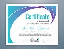 Certificato professionale moderno multiuso illustrazione di stock