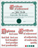 Certificato verde mascherina Rabescatura orizzontale Fotografia Stock Libera da Diritti