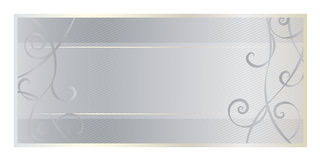 Certificazione del regalo con fondo ed il turbinio d'argento Immagini Stock Libere da Diritti