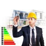 Certificazione di energia dell'architetto Fotografie Stock