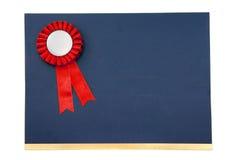 Certifichi ed assegni il distintivo dei nastri Immagine Stock