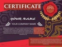 Certifichi il modello con il modello di lusso, il diploma, illustra di vettore royalty illustrazione gratis